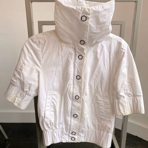 White short sleeve spring jacket